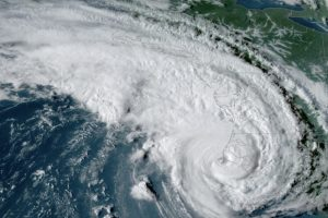 Capture energy from a hurricane
